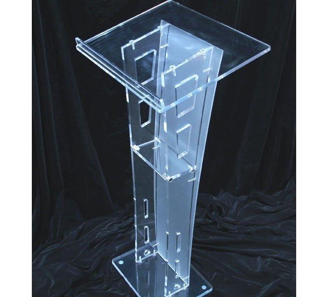 Floor Standing Small Cheap Acrylic Lectern Plexiglass Pulpit Perspex Rostrum Acrylic Desktop Lectern Cheap Acrylic Lectern
