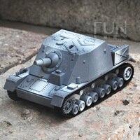 1: 72 Пособия по немецкому языку гризли штурмовой пушки Собранный танк модели Моделирования Детские Военная Униформа игрушечный автомобиль
