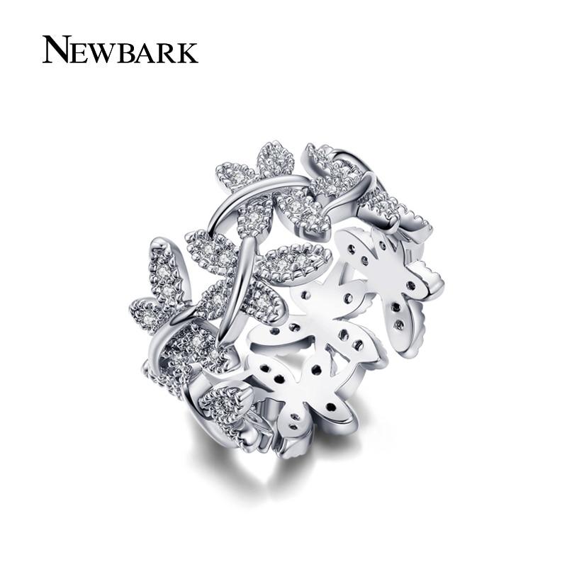 NEWBARK Κομψά δαχτυλίδια λουλουδιών που - Κοσμήματα μόδας - Φωτογραφία 4