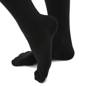Image 5 - Womens Opaque Graduated Compression Pantyhose 23 32 mmHg, Waist High Support Hose Tights Medical Varicose Veins Flight Travel
