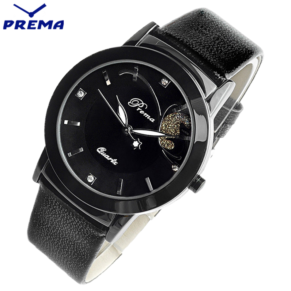 PREMA Brand Women Watches Fashion Quartz-watch Women's Clock Relojes Mujer Dress Ladies Watch Business Sport Red Leather Female new arrival watch women quartz watch gold clock women leatch watches viuidueture brand fashion ladies dress watches reloj mujer