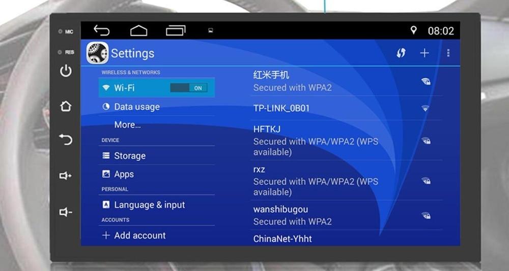 2 Din Android 9.0 universel autoradio pas de lecteur DVD GPS Navigation Quad Core voiture stéréo écran tactile Wifi OBD2 Headunit - 4