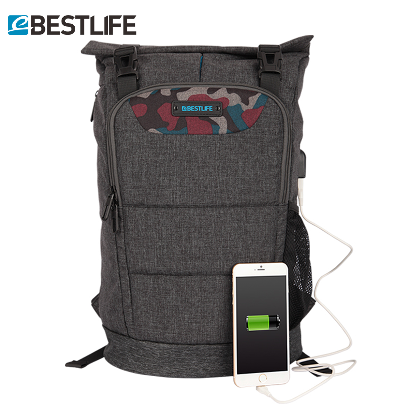 BESTLIFE Anti-theft Laptop Backpack Men External USB Charge Bolsa Mochila Notebook Rucksack School Travel Backpacks for Teenager