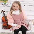 Kamiwa осень зима шерстяная ткань двубортный длинная девочки пальто подростков бренд смеси куртки младенцы дети одежда дети одежда