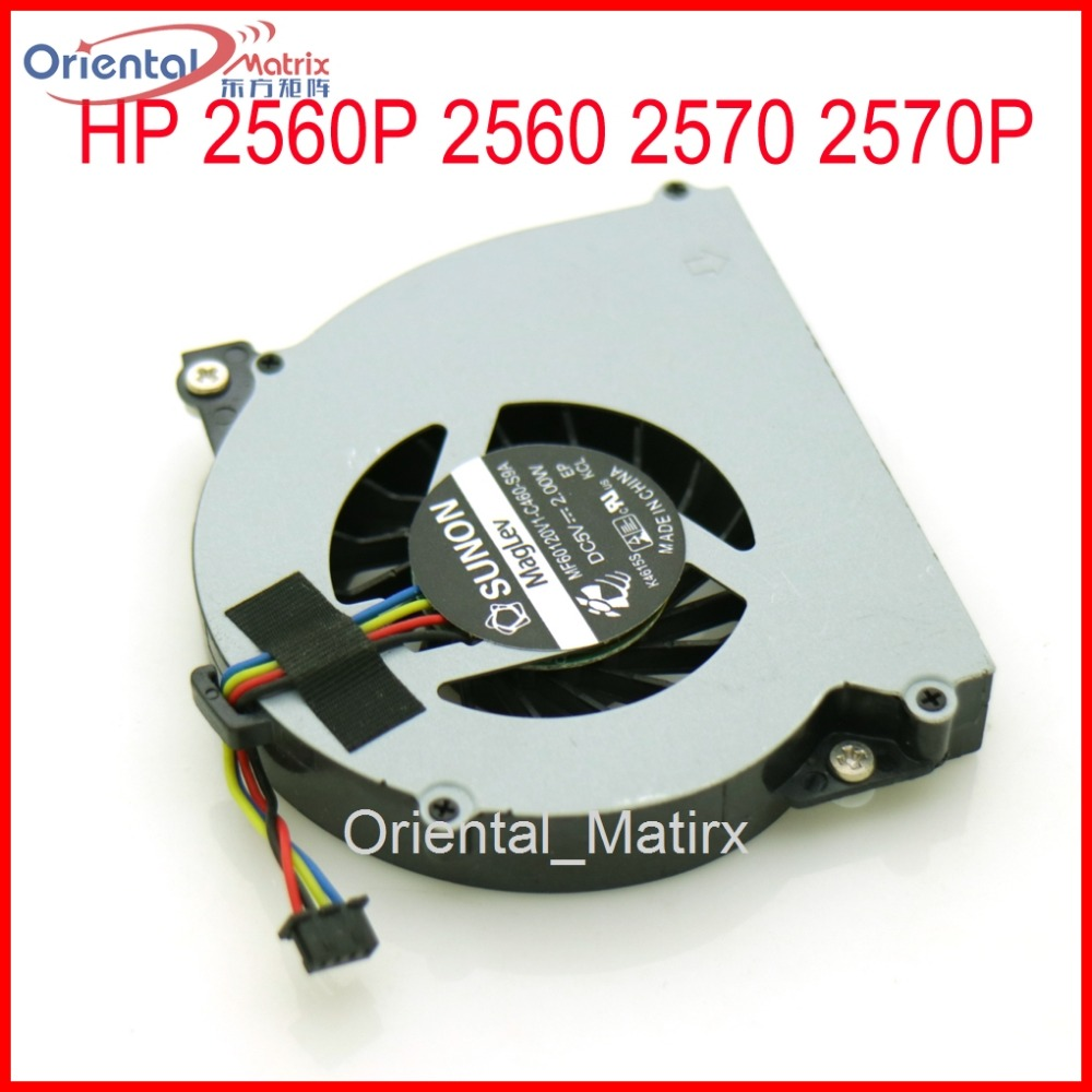 Brand NEW MF60120V1-C460-S9A DC5V 2.00W <font><b>Fan</b></font> Replacement For <font><b>HP</b></font> 2560P 2560 2570 <font><b>2570P</b></font> 651378-001 CPU Cooler Cooling <font><b>Fan</b></font> image