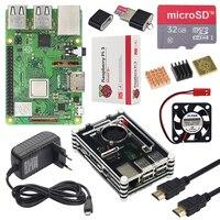 Original Raspberry Pi 3 Model B+ Plus Starter Kit + 9 layer Acrylic Case + 32GB SD Card + 3A Power Adapter + Heatsink + HDMI