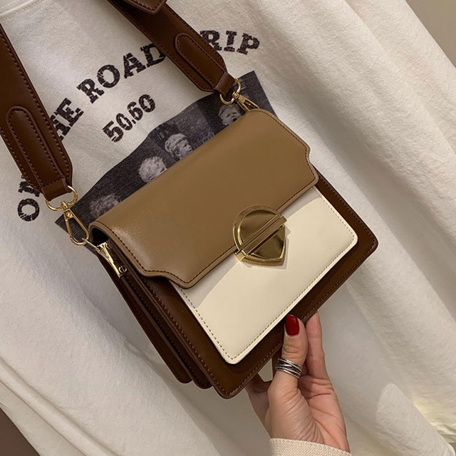 ETAILL Women Messenger Panelled Bag Buckle Flap Crossbody Bag 2019 Luxury Brand Designed Women's Bag Patchwork Bags for Women