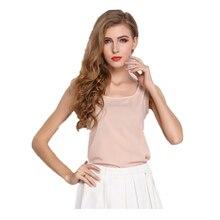 16Color 2014 новая мода лето женщины шифон рукавов жилет твердые конфеты цвет плюс размер шифон блузка женщины топы(один+один)