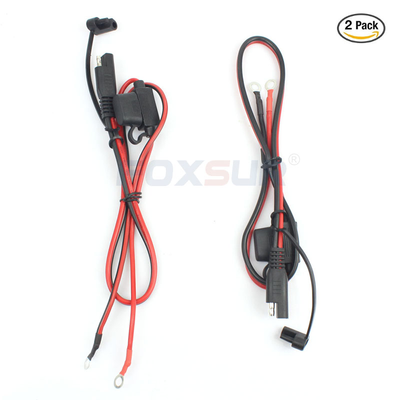 2Pcs New Battery Tender Ring Terminal Harness Fused 2-Pin Quick Disconnect Plug