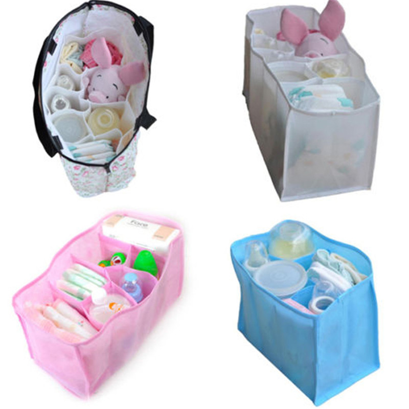 Baby Portable Nappy Water Bottle Changes Divider Storage Organizer Bag Multi PO