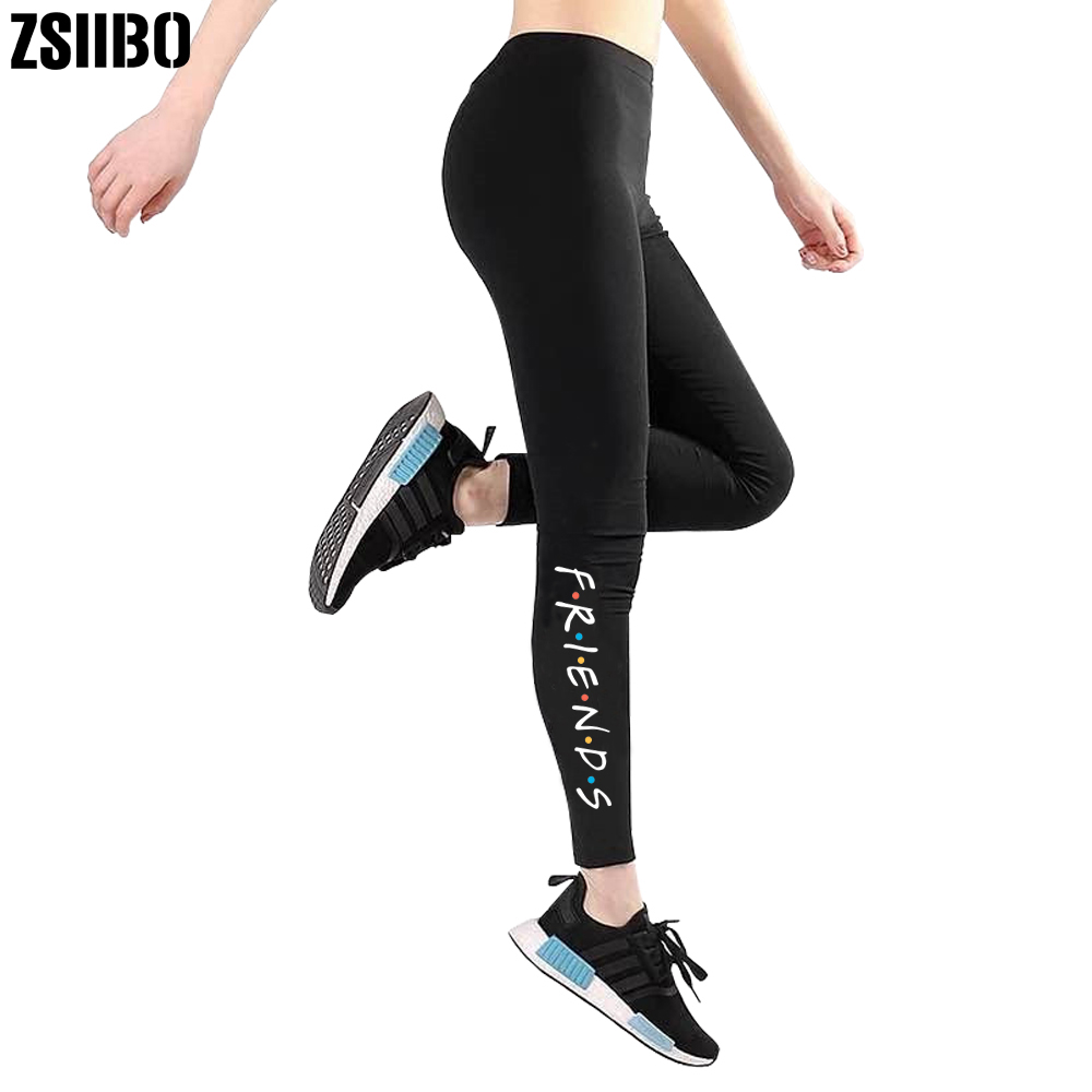 ZSIIBO Friends Print Leggings Fashion Push Up Leggings Women Workout Leggings Slim Leggings Women Pants Drop Shipping