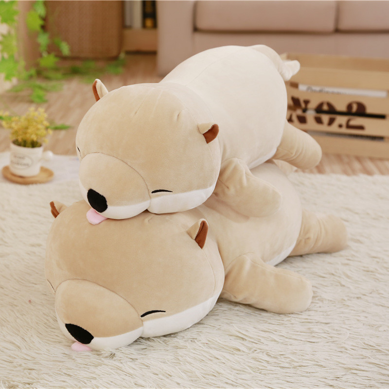 1pc 45/60cm Cute Otter Stuffed Down Cotton Animal Pillow Kawaii Sea Otter Toys For Children Kids Girls Christmas Birthday Gift