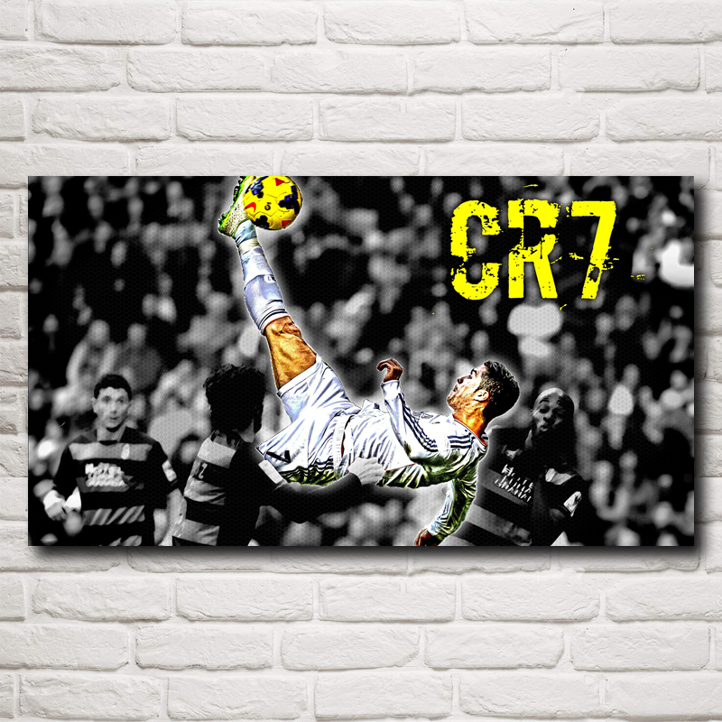 Cristiano Ronaldo Poster Football Madrid Wall World Cup Soccer Silk Art Posters 12x22 16X29 20x36 Inches