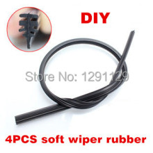 Free Shipping Car Wiper Blade Strips Wiper Blades Windscreen Soft Wiper Rubber 14 16 17 18