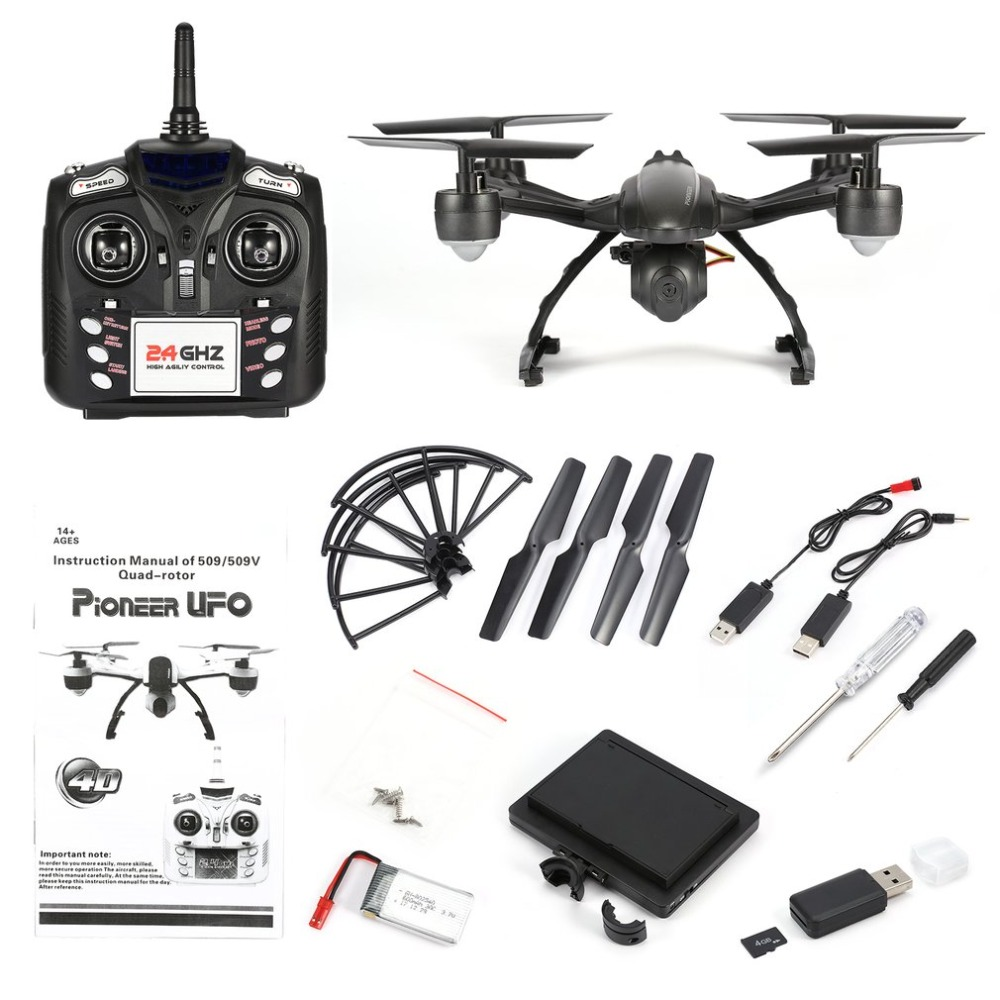 JXD 509G 2.4GHz Mini Drone 5.8G FPV RC Quadcopter with 2.0MP HD Camera Headless Mode Built-in Height Locking Flight Mode drone with camera rc plane qav 250 carbon frame f3 flight controller emax rs2205 2300kv motor fiber mini quadcopter