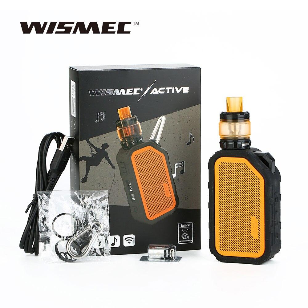D'origine Wismec Actif Bluetooth Musique TC Kit 2100 mah avec 4.5 ml AMOR NS Plus Tank & WS04 1.3ohm Bobine E Cigarette Vaporisateur Vaporisateur