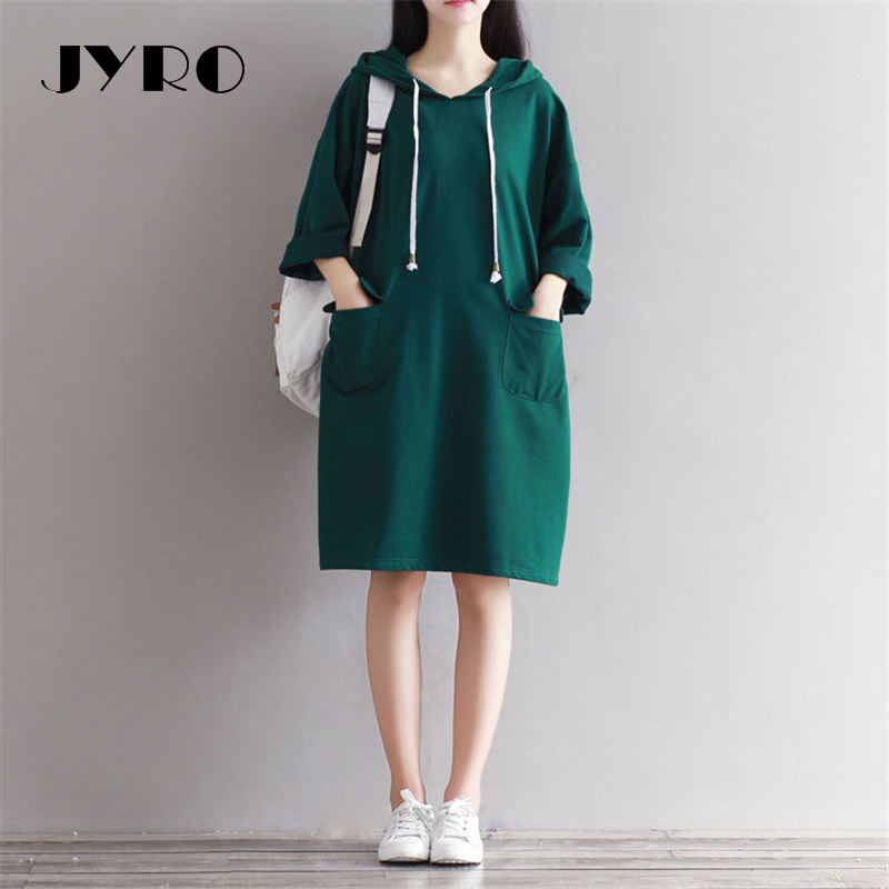 JYRO Brand Mori Women 's Dresses New A Green Fleece/art Long Loose Large Size Knee Length Leisure Bag Knitted Dress michael kors new green lime women s size large l v neck hi low knit top $49