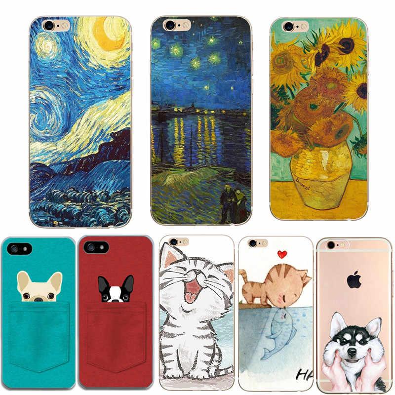 Bao Da dành cho iPhone 8 Capinha Sơn Túi Điện Thoại Ốp Lưng Cho Funda iPhone 6 S 6 S 5 5S SE X 10 XS 8 7 Plus Silicone Mềm TPU Trường Hợp