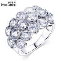 DreamCarnival1989 Fantastic Unique Design Luxury Trendy Crystal Fashion Jewelry Layer designer Brand new Valentine rings SJ23639