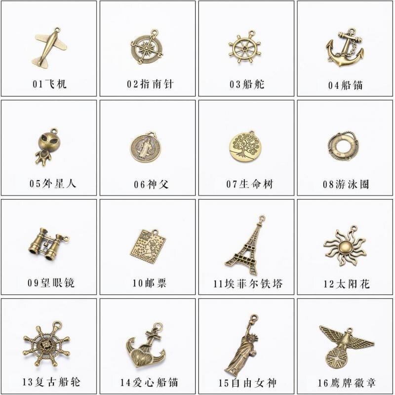 Notebook Accessories Retro Traveler Journal Pendant Metal Vintage Decoration For Midori Planner Diary Accessoriy