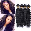 7A Brazilian Deep wave VirginHair 100% Brazilian Human Hair Weave 4 Bundles Cheap Brazilian Curly Virgin Hair Brazilian DeepWave
