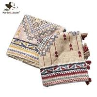 Marte и JOVEN геометрическим принтом весна/осень теплая Шарфы для женщин шаль для Для женщин Модный хаки/розовый оверсайз Одеяло шарф пашмины