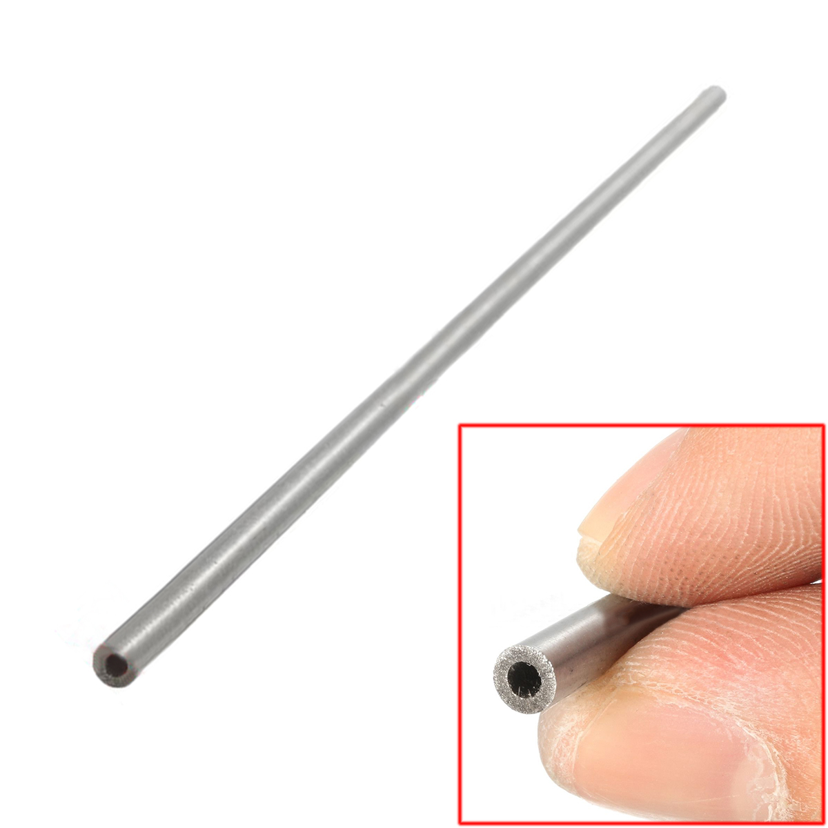 1pc Silver Stainless Seamless Steel Capillary Round Tube 4mmx2mmx250mm With Heat Resistance For Electronic Equipment