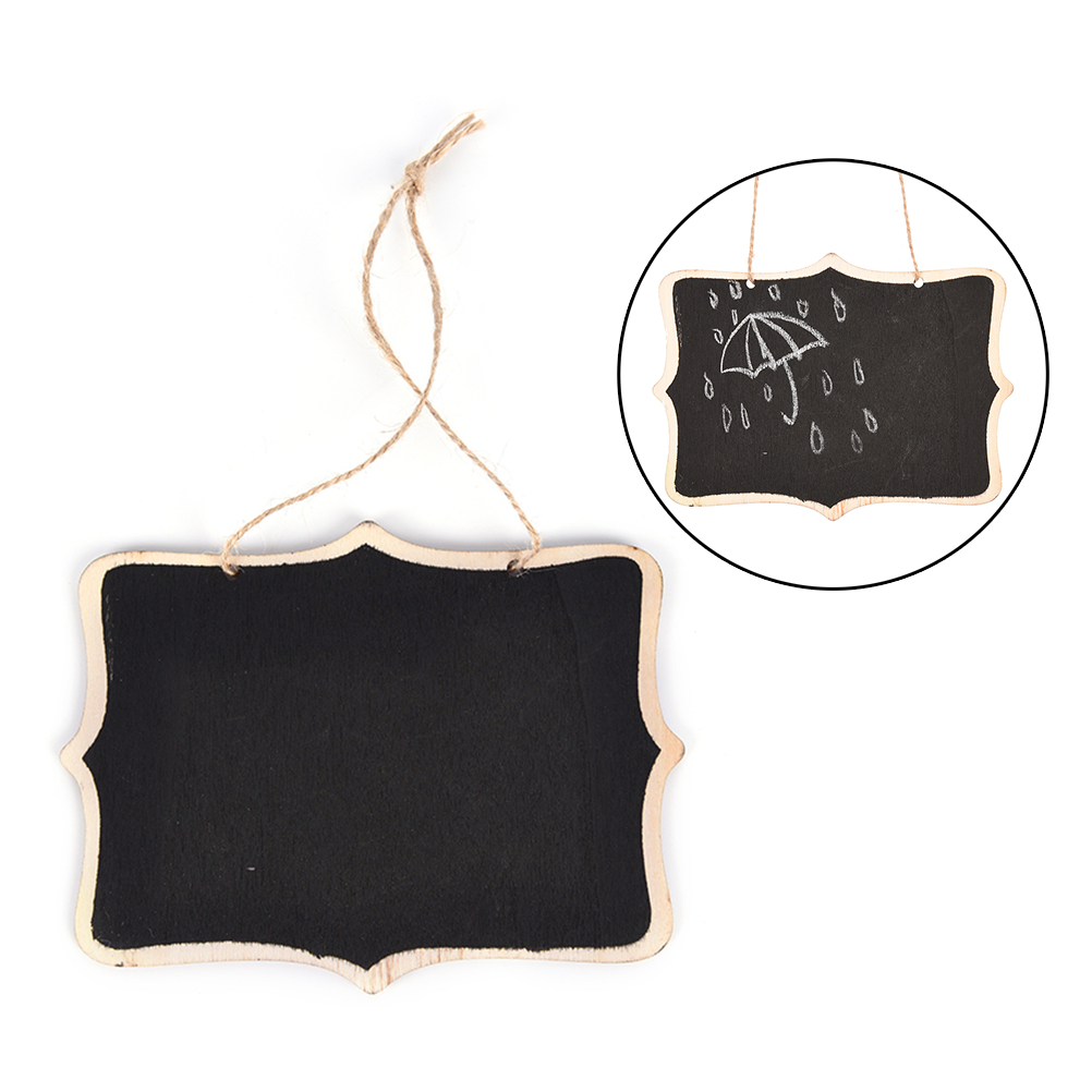 Wall-mount Wooden Black Board With Rope/Wood Blackboard Memo/Message Board