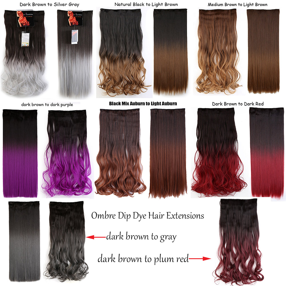 Dying hair extensions blonde to red hairsstyles 5 clips in hair extensions brown black blonde synthetic clip pmusecretfo Image collections