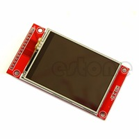 2 4 240x320 SPI TFT LCD Touch Panel Serial Port Module With PBC ILI9341 5V 3