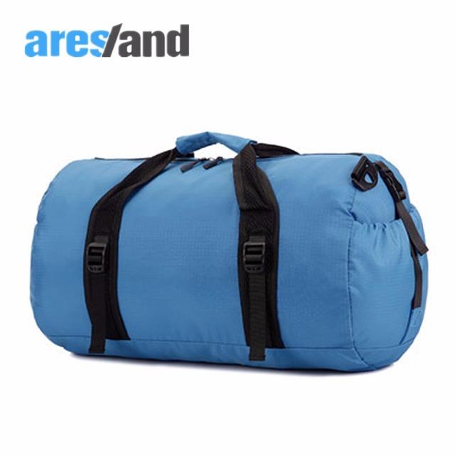Aresland Tamaño S/L Urltra Luz Plegable Unisex Ronda Bolsa de Hombro Bolsa de viaje Bolso de Lona Para los hombres y las mujeres