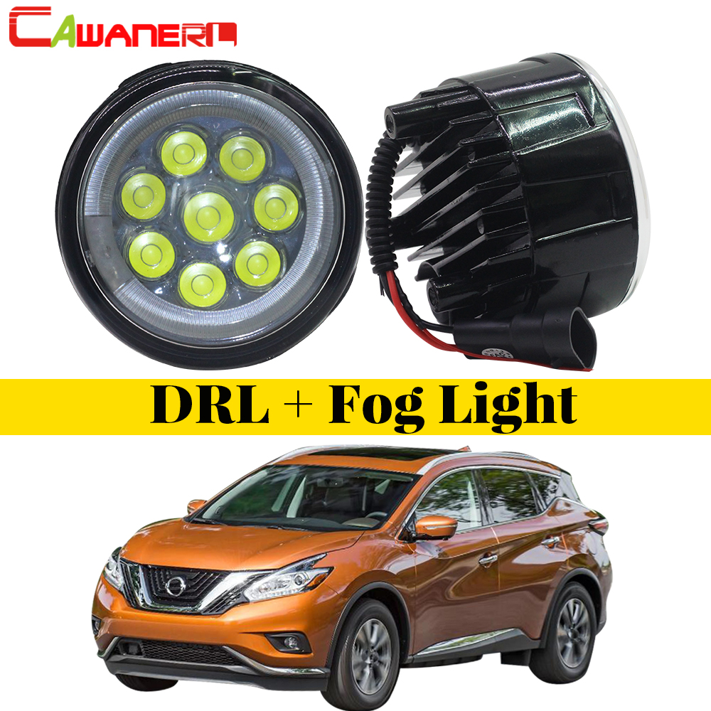 Cawanerl Car Styling LED Fog Light Angel Eye Daytime Running Light DRL For Nissan Murano Z51 Closed Off-Road Vehicle 2007-2014 2pcs for car styling fog lights nissan x trail t31 closed off road vehicle 2007 2014 halogen lamps 26150 8990b