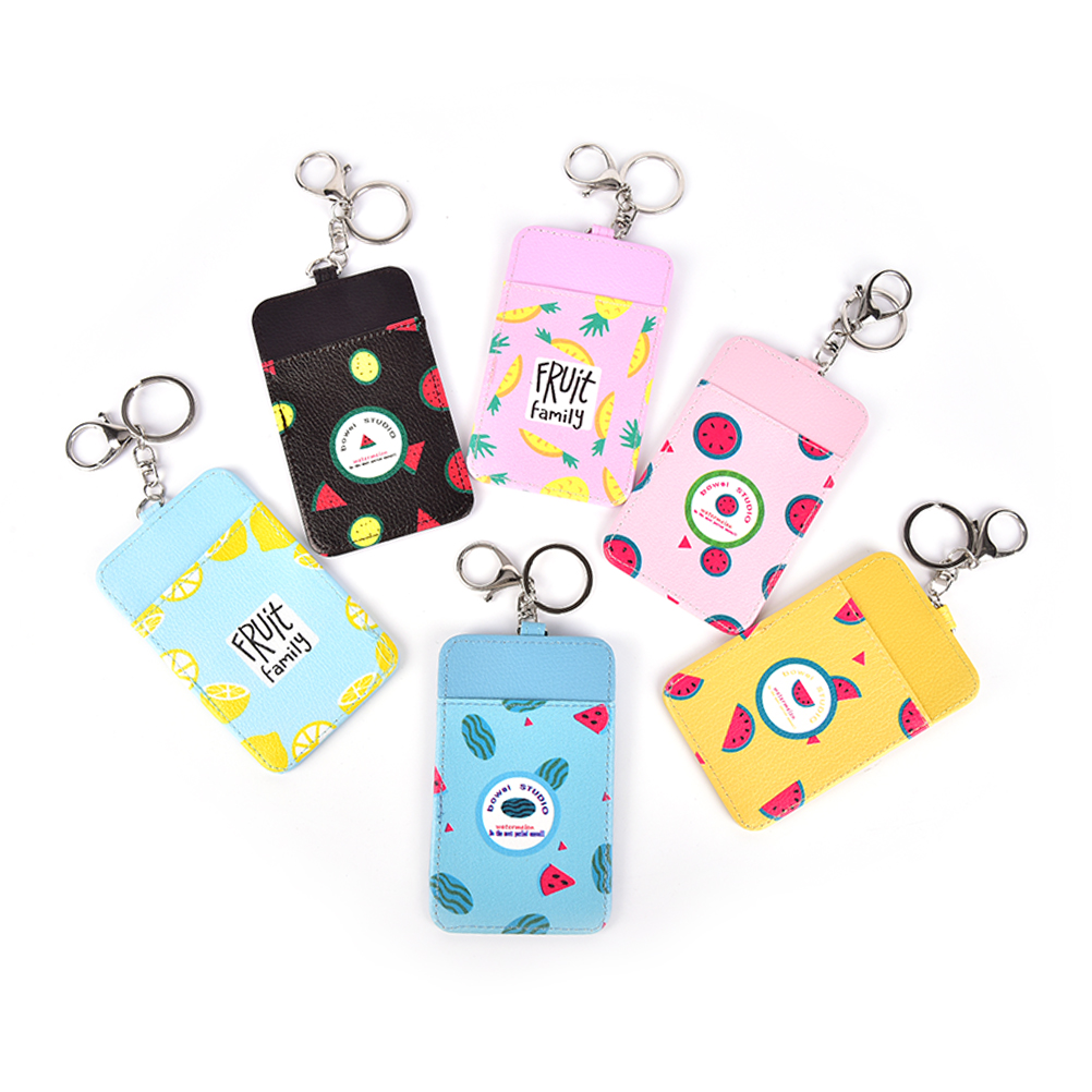 Luggage & Bags Novelty Summer Fruits 11*7cm Neck Hanging Key Hook Bus Id Card Holder Case Pouch Bag Holder