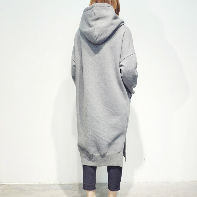 923d26b2e4f LUVCLS Womens Super Long Harajuku Hoodies Long Sleeve Loose Casual ...