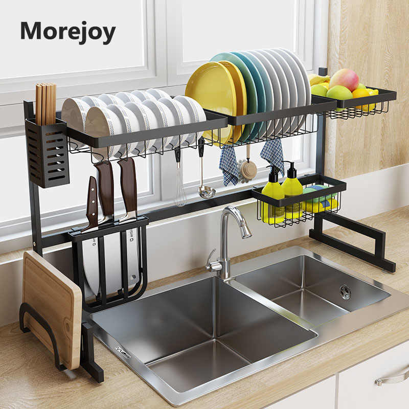 Swell 65 85 Cm Black Stainless Steel Kitchen Rack Dish Rack Above Download Free Architecture Designs Philgrimeyleaguecom