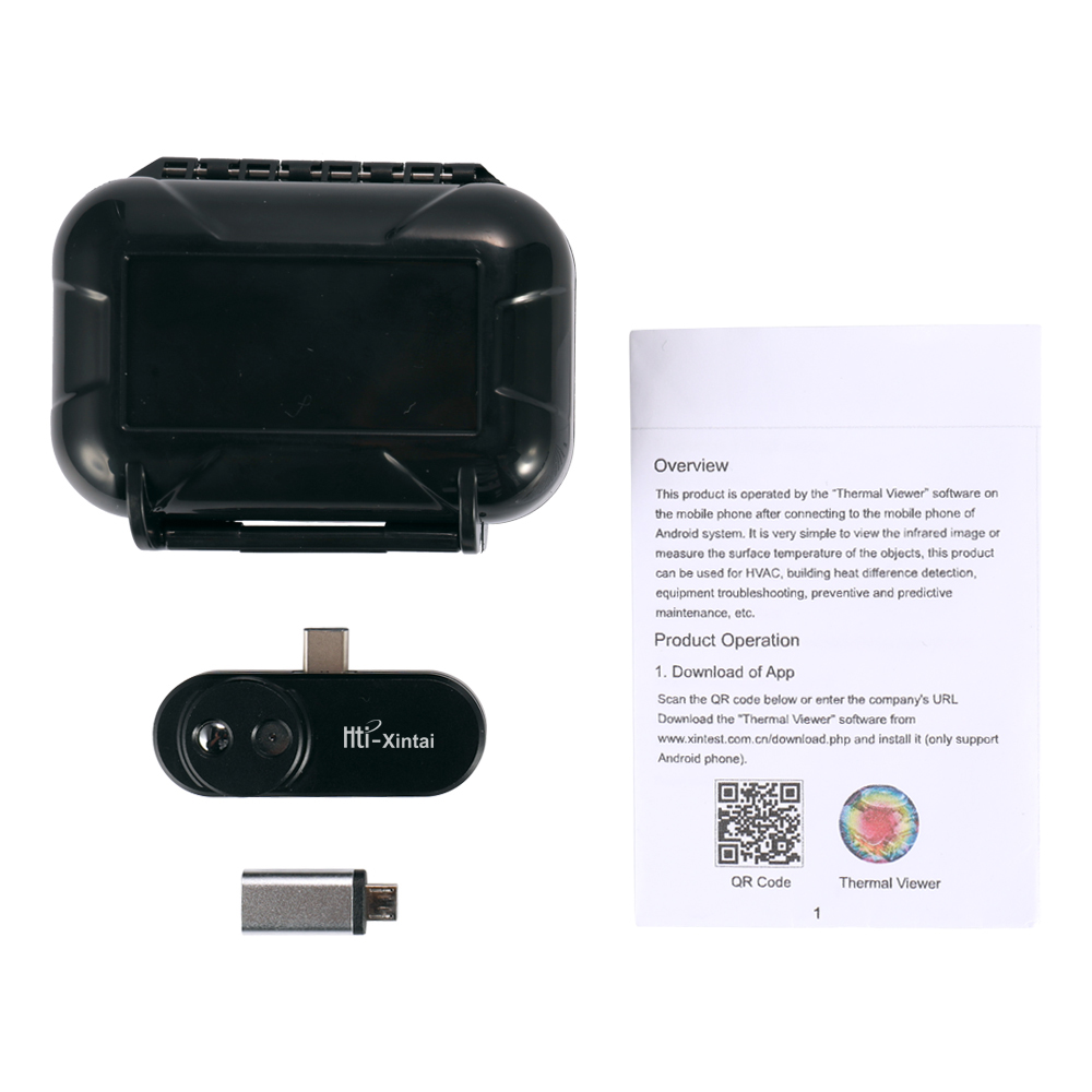 Câmera De Imagem Térmica Infravermelha Kkmoon Termômetro Termovisor de Infravermelho para Android com Adaptador Externo