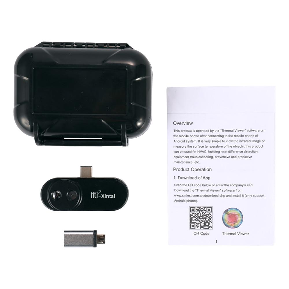 Kkmoon imagerie thermique infrarouge caméra thermomètre externe infrarouge imageur thermique pour Android avec adaptateur