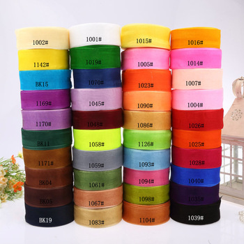 """new arrive 1-1/2""""(38mm) organza ribbon 50 yards/roll,500yards/lot mix 10 color, belt gift packing"""