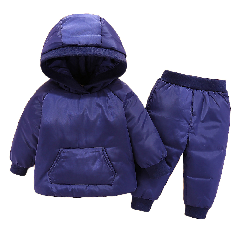 HYLKIDHUOSE 2018 Children Winter Clothing Sets Baby Girls Boys Clothes Suits Duck Down Warm Thicken Coats Bib Pants Infant Suits hylkidhuose 2018 baby girls boys winter clothes suits children clothes suits white duck down thicken coats bib pants kids suits