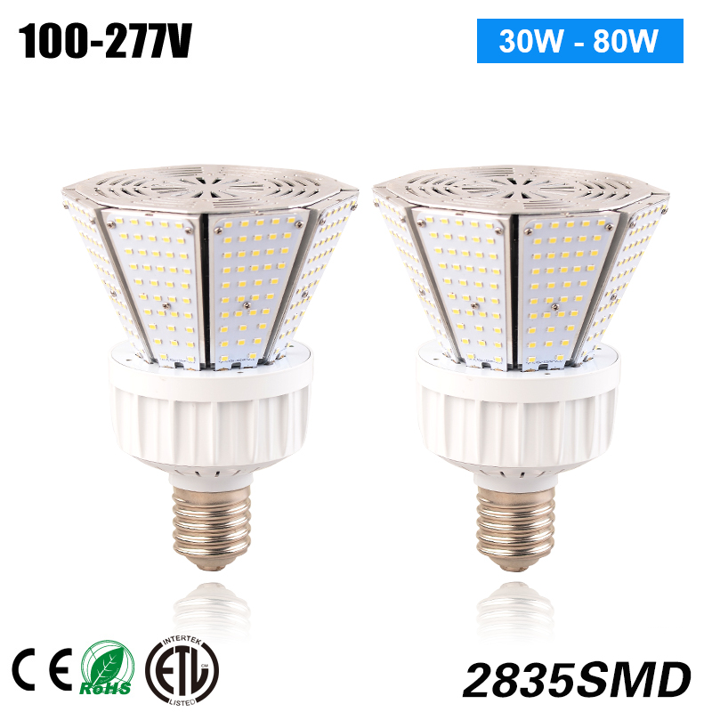 Mogul Base 80w LED replacement lighting for Post Top Street Light Fixtures 360 waterproof led corn light bulb industrial lighting 60w 80w 100w 120w mogul base e39 led outdoor light