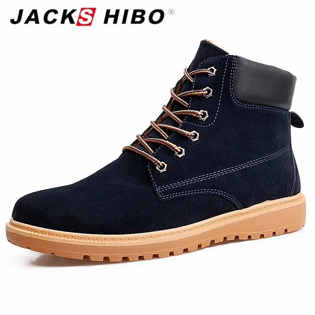 d5899a4714 JACKSHIBO winter martin boots men shoes