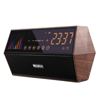 Touch screen led digital clock with speaker / radio Electronic gift Retro home decor table clock Bedside illuminated clock