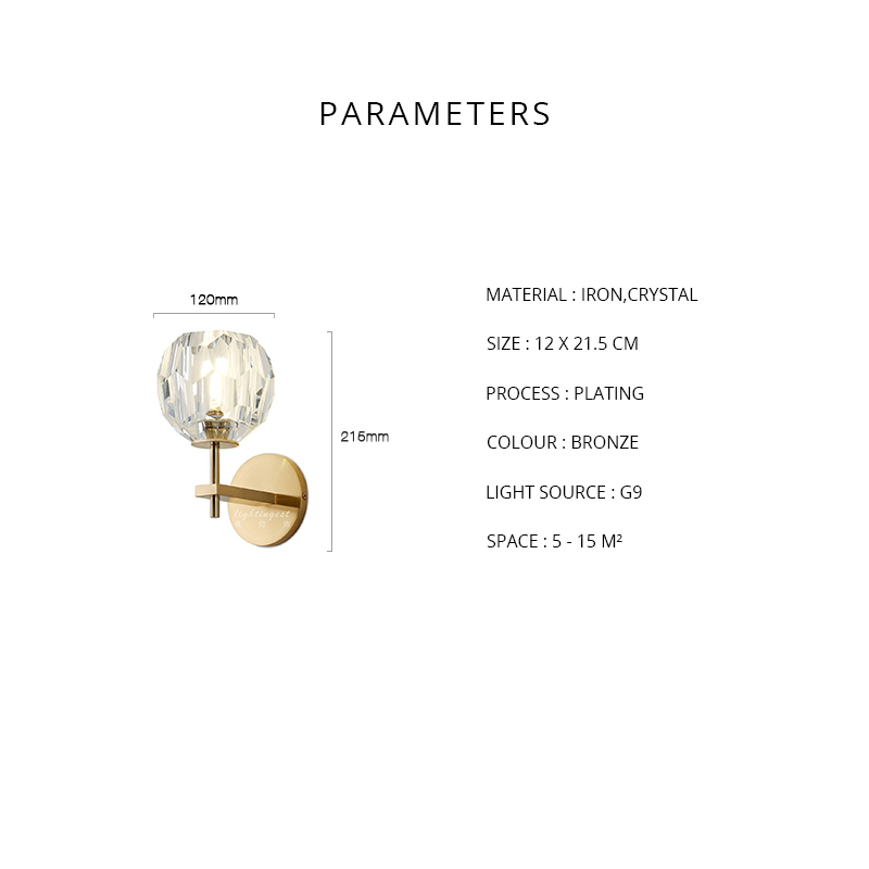 Modern Luxury de Cristal Parede Scone G9 CONDUZIU a Lâmpada de Parede para Sala de estar Quarto Luz Projeto Luz Interior Luminárias de Parede Em Casa art Decor - 6