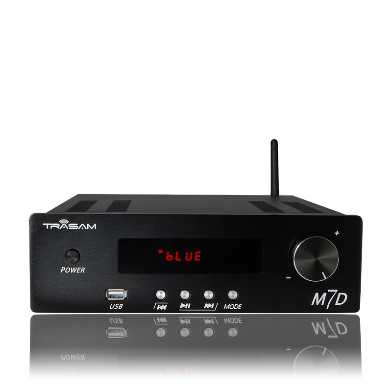 US $242 0 |TRASAM M7D Remote Control Bluetooth/USB/APE/FLAC Lossless Player  High Power Home Audio Amplifier 24Bit/192KHz 150W+150W AC220V-in Amplifier