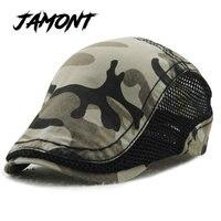 Hot Fashion Camouflage Beret Hat For Men Women Gorras Planas Net Visors Denim Outdoor Peaked Flat