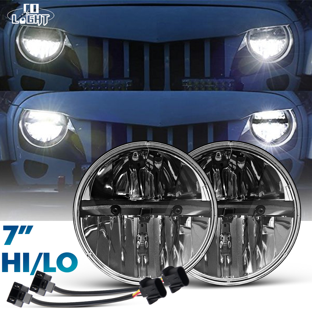 COLIGHT 1pair 7 Inch 30W LED Headlight H4 Hi/Lo Beam Car-Styling Fog Light Super DRL Parking Light for JEEP Hummer Land Rover colight 1pair 7 inch 30w led headlight h4 hi lo beam car styling fog light super drl parking light for jeep hummer land rover