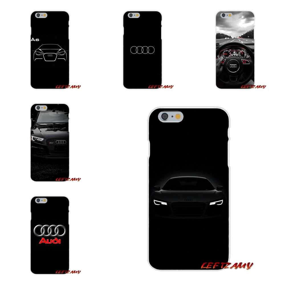 Accessories Phone Shell Covers For iPhone X 4 4S 5 5S 5C SE 6 6S 7 8 Plus Cute Audi Car Logo