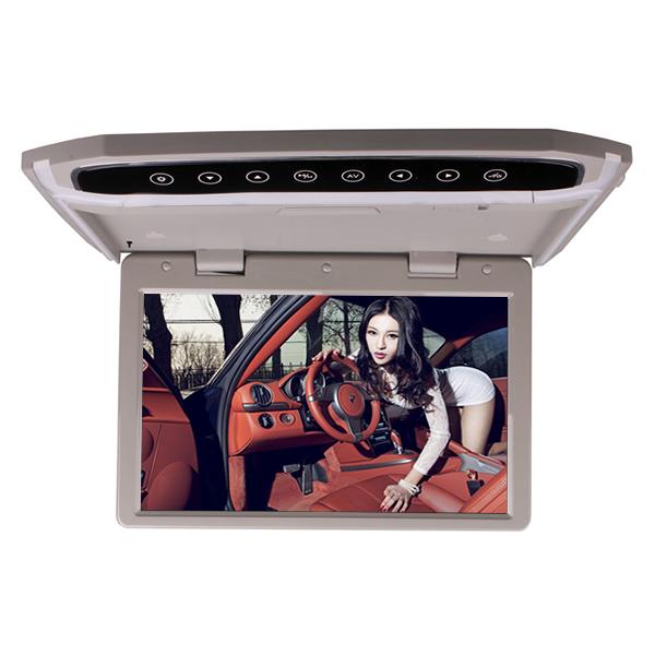 12 de Polegada Carro Montado Telhado Overhead Flip Down MP4 MP5 Player De Vídeo LED HD Monitor com HDMI Entrada SD AV