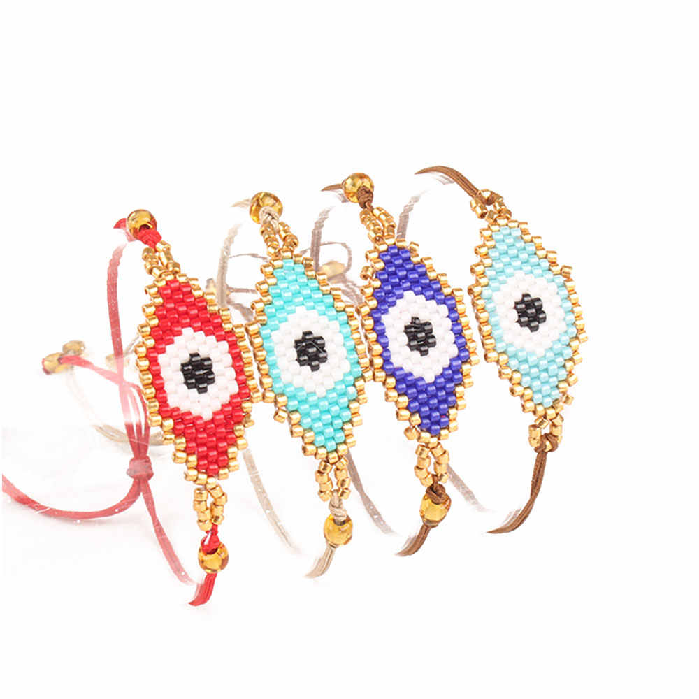Shinus Evil Eye Bracelet MIYUKI Bracelets Pulseras Turkish Evil Eye Bracelets For Women Bohem Bileklik Summer Jewelry 2019