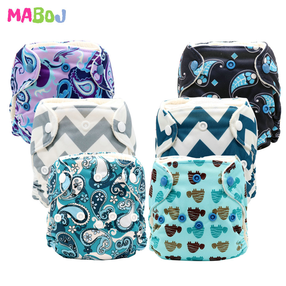 MABOJ Newborn Cloth Diaper All In One Nappies Reusable Baby Infant Newborn AIO Nappy Stay Dry Fast For 0-3 Months Baby Wholesale